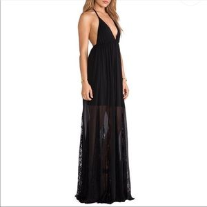 Alice + Olivia 4 Murray black lace maxi dress